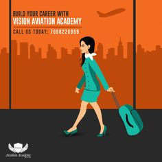 Build Your Career with Vision Aviation Academy Get Trained In Aviation, Hospitality & Travel Tourism.  Call: 7090226999  #airlines #Hotel #Travel #airport #cabincrew