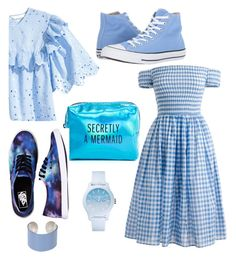 """50 shades of blue"" by alana1123 on Polyvore featuring Pinch Provisions, J.Crew, Vans, Converse, Maison Margiela and Lacoste"