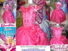 Barbie Thumbelina fairy butterfly costume Disney Princess doll party pageant bridesmaid medieval pink graduation dress cosplay quinceanera. $95.00, via Etsy.