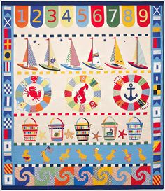 """""""Mothers and Daughters"""" quilt pattern. I really love this, the shapes and all the colours against white is really striking."""