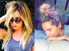 Newlywed Ashley Tisdale Dyes Her Hair Lavender—Take a Look!  Ashley Tisdale, Hair