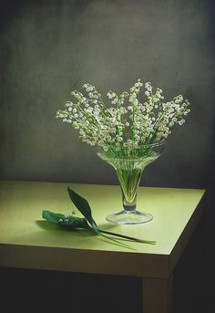 The fleeting loveliness of a bowl of Lily of the Valley and the heady perfume.....bliss