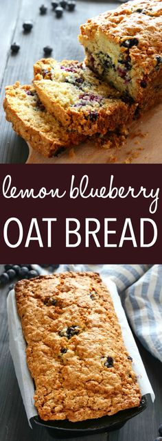 This Lemon Blueberry Oat Bread is the perfect sweet coffee break snack! It's easy to make and packed with whole grains for a healthy twist! Recipe from thebusybaker.ca! #oatbread #lemonblueberrybread #muffinrecipe via @busybakerblog