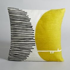Mihnéa Embroidered Cotton Cushion Cover AM.PM. - Cushion Covers