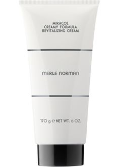 Merle Norman MIRACOL® Revitalizing Cream  For all skin types.   Delivers the same deep-cleansing benefits as the classic MIRACOL Revitalizing Lotion in a luxurious cream. The thick, rich formula applies easily without a brush. Oil-free.