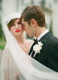 Downton Abbey Styled Shoot from Stacy Able Wedding Veils, Wedding Poses, Red Wedding, Wedding Bride, Wedding Dresses, Lace Bride, Garden Wedding, Great Gatsby Wedding, Art Deco Wedding