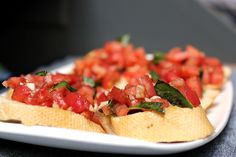 Classic Tomato and Garlic Bruschetta #SensationalSides #Recipe
