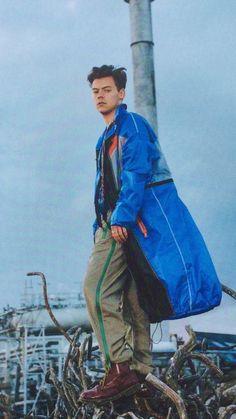 Harry Styles en la cesion de fotos para la revista britanica