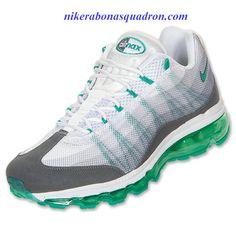 more photos a78b6 3d31b Nike Air Max 95 Dynamic Flywire Mens White Atomic Teal Dark Grey 554715 130  Cheap Nike
