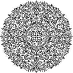 ≡ coloring page mandala