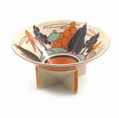 'Orange Trees and House' a Clarice Cliff Fantasque Bizarre Conical bowl
