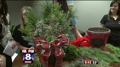 Juniper, blue spruce, gold cypress and red dogwood twigs are just some of the live greens that Master Gardener Brian Smith uses to create beautiful holiday centerpieces and decorations. Brian  brou...