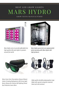 Mars Hydro specializes in LED grow lights and grow tents since 2009, offering large range of full spectrum led grow lights and grow tents for indoor growing.   Various types of grow lights for indoor and greenhouses' plants growing needs. Whether you need to replace 300W 600w 1000W HPS or fluorescent light system, Hydroponic Systems, Hydroponics, Hydroponic Lights, Hydro Store, Weed Plants, Best Led Grow Lights, Hydroponic Growing, Vertical Farming, Best Marriage Advice