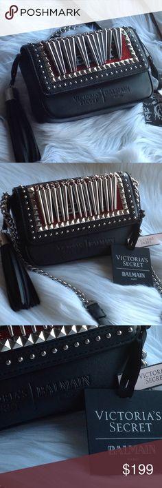 """JUST IN ✔️ NWT BALMAIN Crosbody purse VS X BALMAIN Crosbody purse 7"""" L X 4"""" H 1 1/2"""" W NO TRADES Balmain Bags Crossbody Bags"""