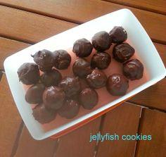 jellyfish cookies: Hindistan cevizli çikolata topları