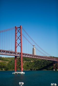 The 25 de Abril Bridge in Lisbon, Portugal.
