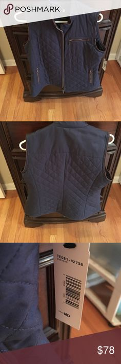 Pendleton Navy Blue Quilted Vest Never worn Pendleton Jackets & Coats Vests