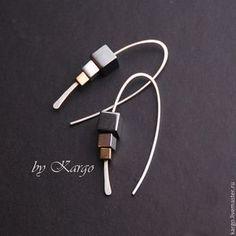 Earrings handmade. Fair Masters - handmade. Buy Earrings Tess (silver). Handmade. Silver, hematite, unusual earrings