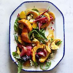 This is a perfect make-ahead salad. The beets, squash, and dressing can all be prepped ahead and refrigerated overnight. Then add it all to the salad greens and serve the salad at room temperature.