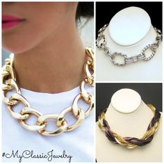 Chunky necklaces are fab - Get the look with #MyClassicJewelry http://stores.ebay.com/My-Classic-Jewelry-Shop