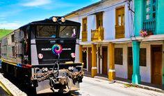 The historical train through the Devil's Nose. #Ecuador