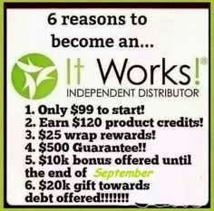 Reason #7: To change lives together and have FUN doing it! Let's start this journey TODAY! Message/Text me 503.805.4278 #ItWorks #startswithone #entrepreneur #mom #workfromhome #freedom #ownyourtime #stayathomemom #livingdebtfree #financialfreedom #money #success #homebusiness #cash #beyourownboss #dollar #financialsavings #freedom #showmethemoney #extraincome #dream #getoutofdebt #debtfreeliving #selfemployed #teamwork