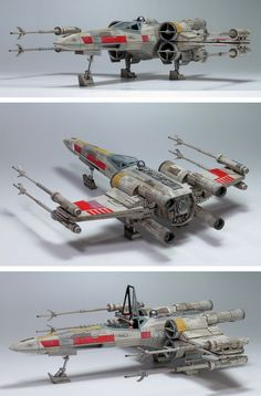G-CUBE's Bandai x Star Wars 1/48 X-Wing Starfighter Moving Edition: A Beautiful…