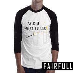 Accio miles teller shirt tshirt clothing tee t-shirt raglan baseball km49
