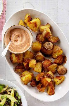 Crispy Twice-Cooked Potatoes with Paprika Mayo