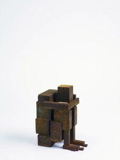 "Antony Gormley [UK] (b 1950) ~ ""MEME LX"", 2009. Cast iron (15 x 9.5 x 12.5 cm). | #art #sculpture #figurative"