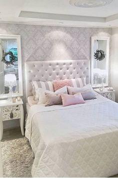 Home Decoration Ideas For Wedding Purple Bedroom Decor, Bedroom Interior, Bedroom Design, Luxurious Bedrooms, Master Bedrooms Decor, Bedroom Decor, Home Decor, Small Bedroom, Remodel Bedroom