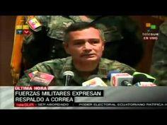 14:17 Las Fuerzas Armadas reiteran su lealtan a Correa