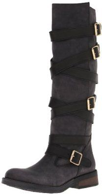 Steve Madden Women's Bryannt Motorcycle M US Tall Boots, Knee High Boots, Black Boots, Shoe Boots, Shoes Heels, Shoe Bag, Women's Boots, Motorcycle Leather, Motorcycle Boots