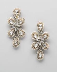 Inka earrings by Inka earrings // More from Inka earrings: http://www.theknot.com/gallery/wedding-jewelry/meg-jewelry