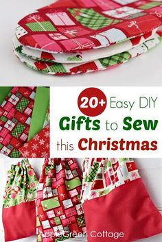 Diy Christmas gifts: check out easy sewing tutorials and patterns for Christ. - Diy Christmas gifts: check out easy sewing tutorials and patterns for Christmas. Many include f - Christmas Sewing Projects, Easy Sewing Projects, Sewing Projects For Beginners, Sewing Tutorials, Sewing Tips, Free Sewing, Sewing Hacks, Christmas Sewing Gifts, Sewing Crafts