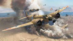 Bristol Blenheim Mk IV Free French Air Force, by Adam Tooby Ww2 Aircraft, Military Aircraft, Bristol Blenheim, Pilot, War Thunder, Aircraft Painting, Ww2 Planes, Nose Art, Aviation Art