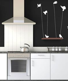 Take a look at this White Birds of a Feather Wall Decal Set by Sissy Little on #zulily today!