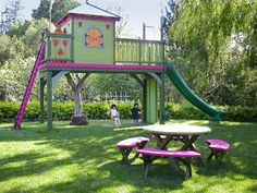 play houses for kids | ... Play Structures for Kids-Perched Playhouse: Front Overview