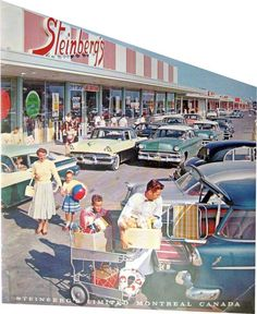 🌟Tante S!fr@ loves this📌🌟Rare picture of the Steinberg's located in St-Martin Shopping Center in Chomedey (recalled Laval later.) in This store was not sufficient enough customer-wise, another store was built at the other end 2 years later. Vintage Pictures, Old Pictures, Vintage Images, Old Photos, Vintage Advertisements, Vintage Ads, Vintage Posters, Vintage Shops, Vintage Vibes
