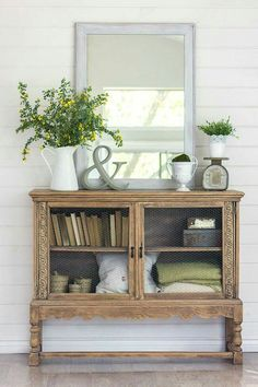 great farmhouse rustic entryway idea - love the & in there!
