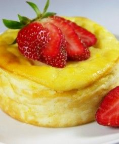 single serving Baked Ricotta Cheesecake