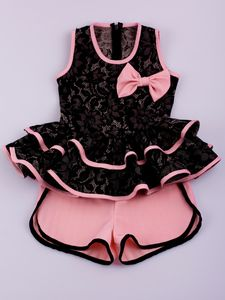 Look what I found on Black Lace Peplum Top & Salmon Shorts - Toddler & Girls by Mia Belle Baby Baby Kind, My Baby Girl, Toddler Outfits, Kids Outfits, Toddler Girls, Little Girl Fashion, Kids Fashion, Kids Frocks, Dresses Kids Girl