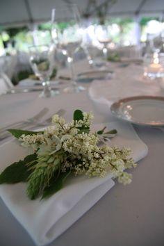Napkin Flower Arrangement | Wedding