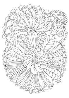 Coloring Page Mandala Acorn And Oak Leaves Mandala To By