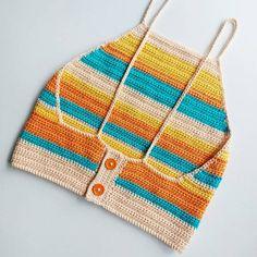Crochet Top Outfit, Crochet Jumper, Crochet Crop Top, Cute Crochet, Crochet Clothes, Crochet Bedspread Pattern, Crochet Bikini Pattern, Baby Knitting Patterns, Crochet Patterns