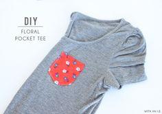DIY floral pocket tee
