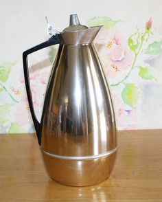 Vintage Mid Century Alfi Stainless Thermal Coffee Server by cocoandcoffeevintage