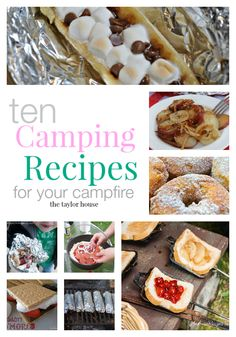 Campfire recipes, camping recipes, summer recipes, camping trips
