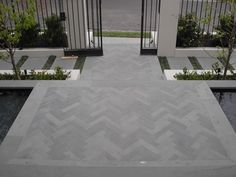 Image result for sandstone herringbone paving