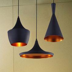 Livraison gratuite pendentif. bar, léger conçu par tom dixon battre, 3 pcs chambre cuisine maison bar lampe suspension plafonnier